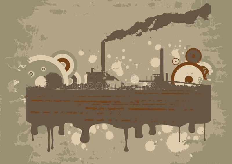 De vector stedelijke grungeindustrie D royalty-vrije illustratie