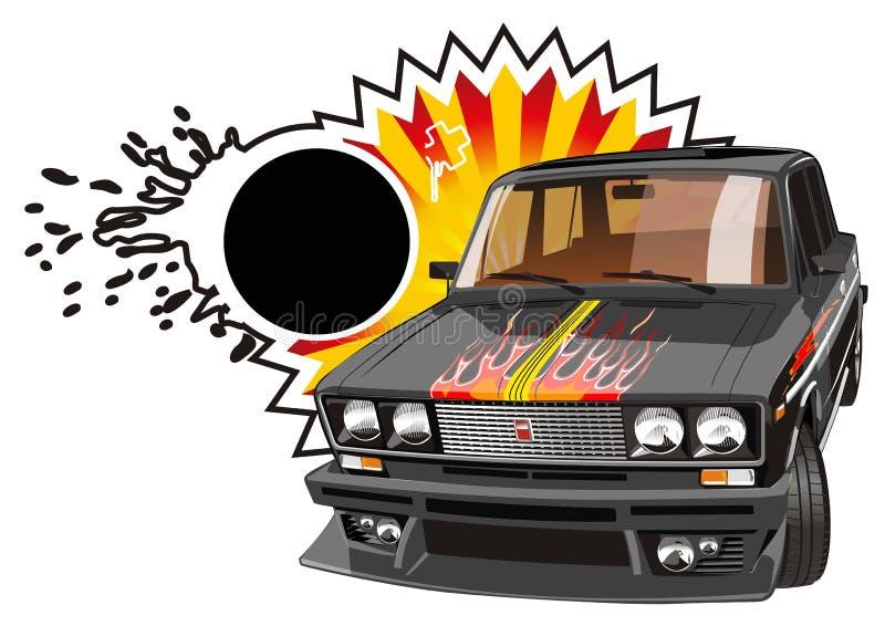 De vector stemde zwarte auto stock illustratie