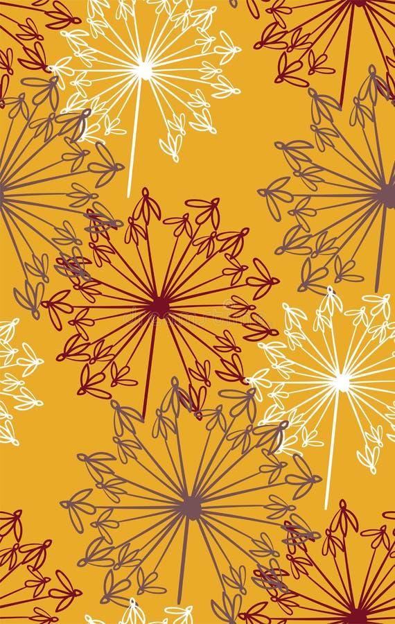 De vector stileerde modern naadloos bloemenpatroon Skandinavi?r vector illustratie