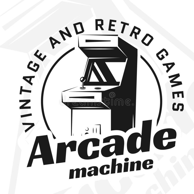 De vector van de arcademachine royalty-vrije illustratie