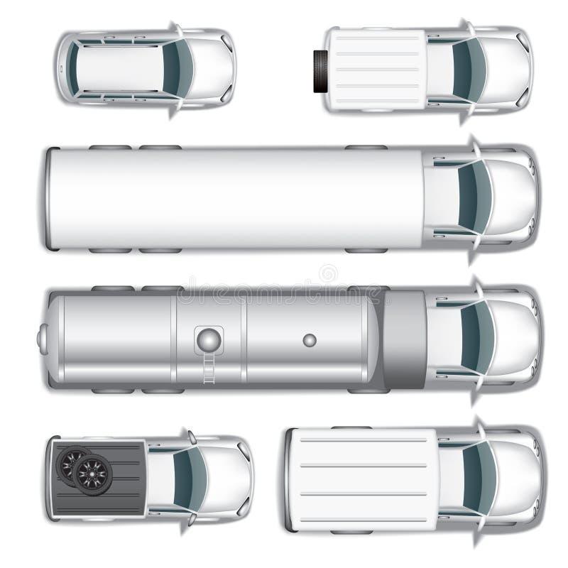 De vector van auto's stock illustratie