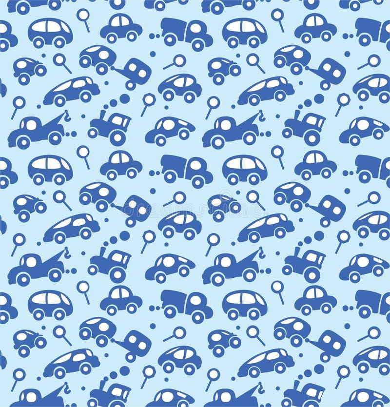 De vector van auto's Naadloos patroon royalty-vrije illustratie