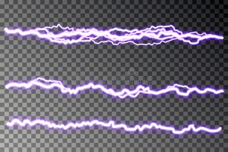 De vector van de bliksemontploffing op geruite achtergrond wordt geïsoleerd die Elektrische lossing Blikseminslagbliksem vector illustratie