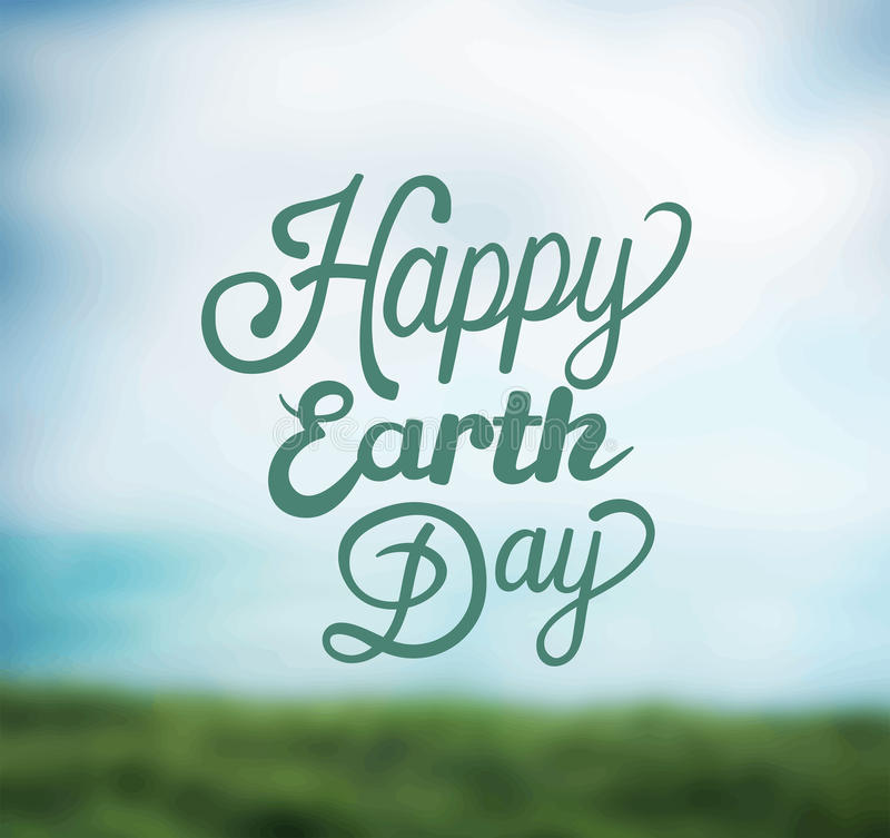 De vector van de aardedag stock illustratie