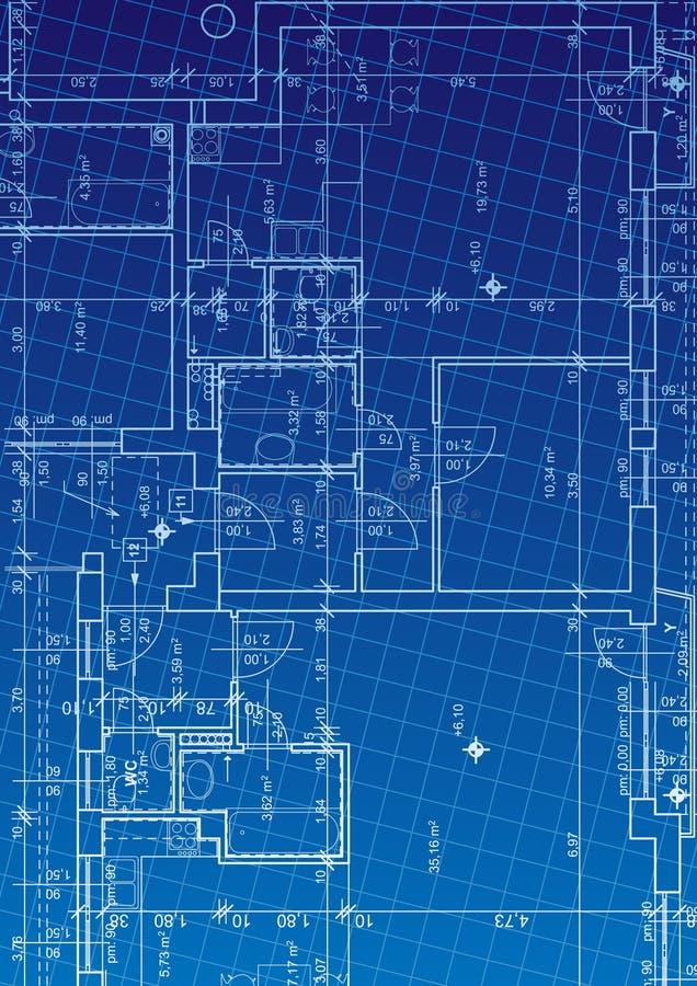 De vector van de blauwdruk stock illustratie