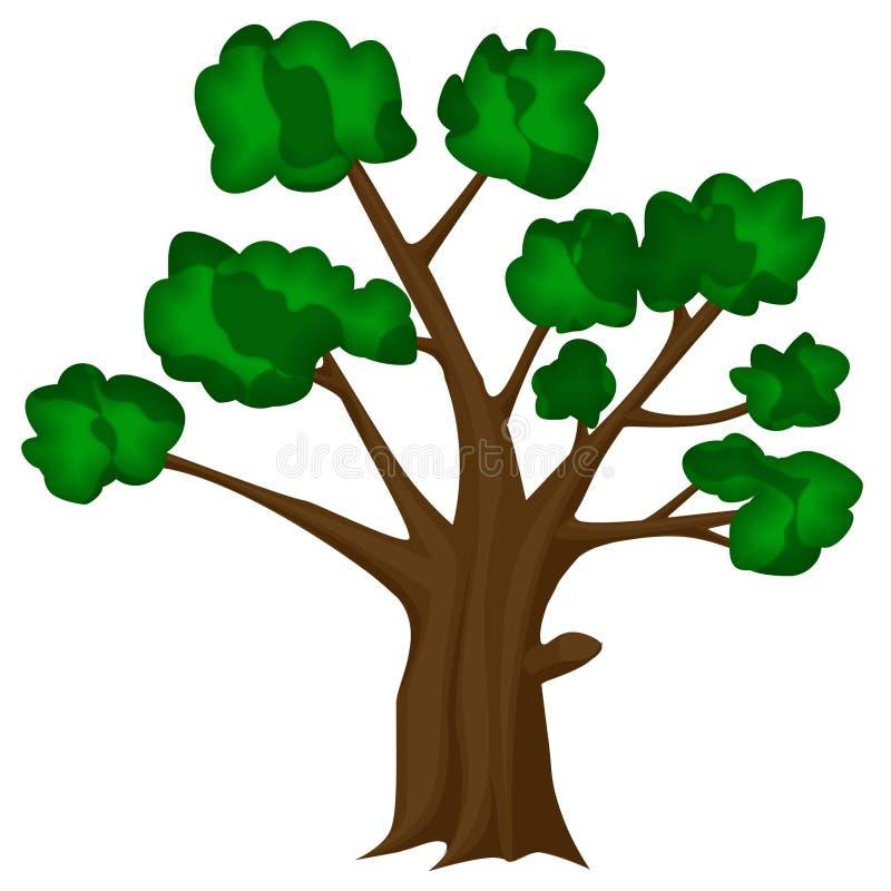 De vector van de boom stock afbeelding