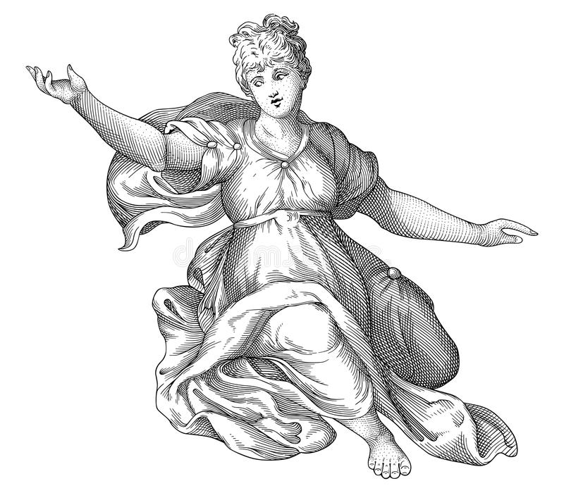 De vector van de dame stock illustratie