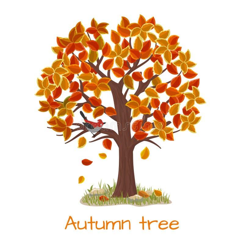 De vector van de de herfstboom vector illustratie