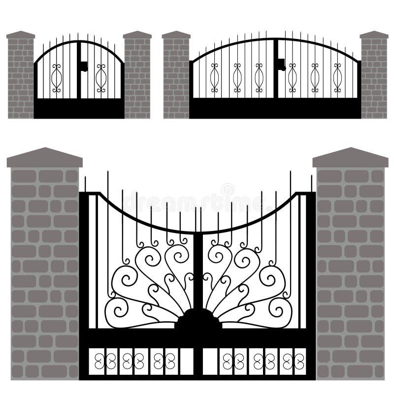 De vector van de deur royalty-vrije stock afbeelding