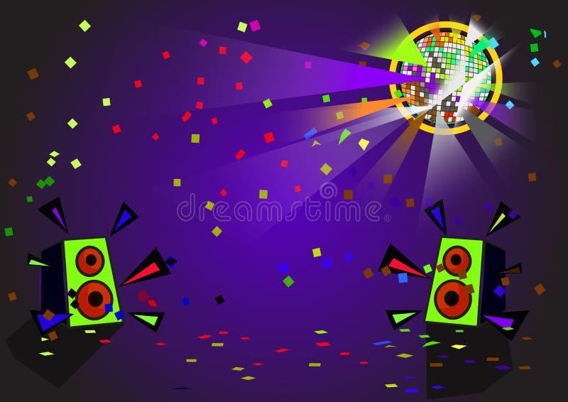 De vector van de discobal stock illustratie