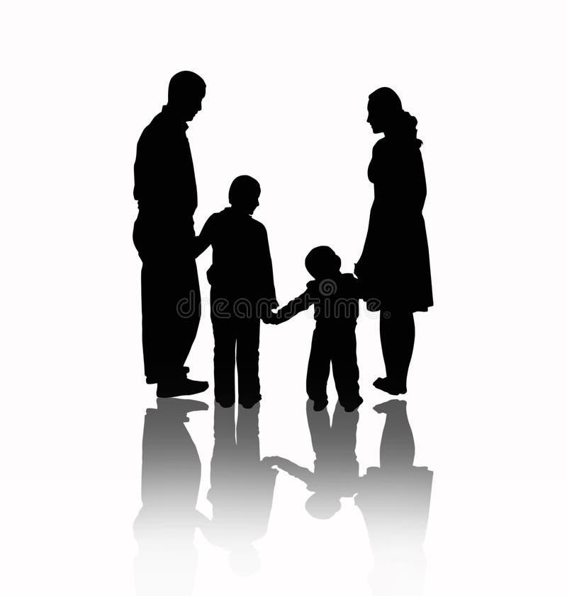 De vector van de familie stock illustratie