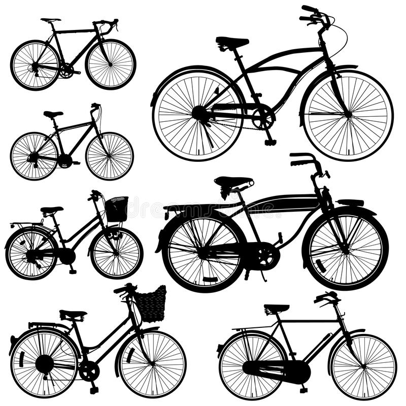 De Vector van de fiets stock fotografie