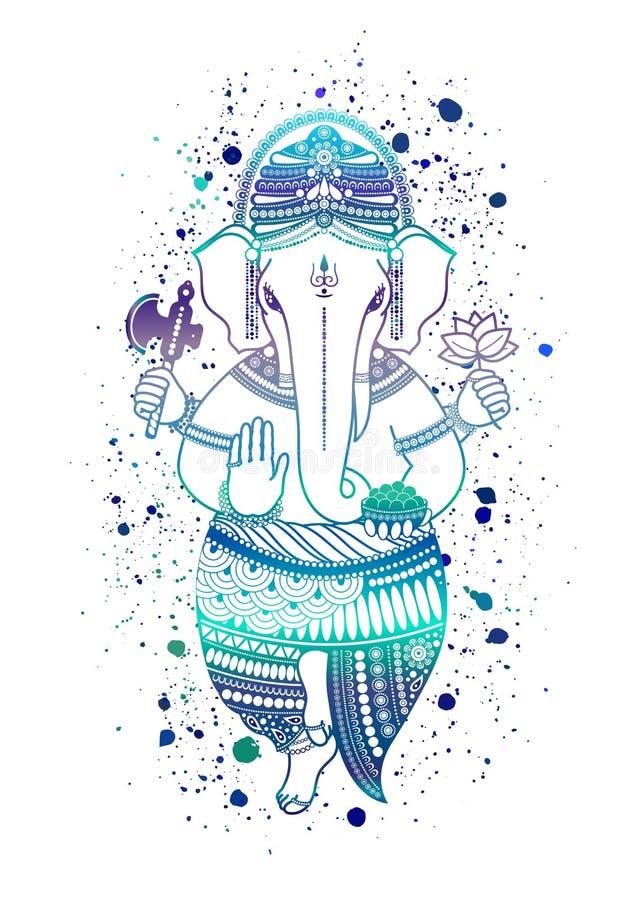 De vector van de Ganeshagod vector illustratie