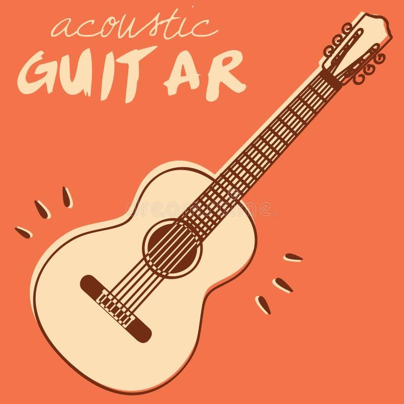 De vector van de gitaar