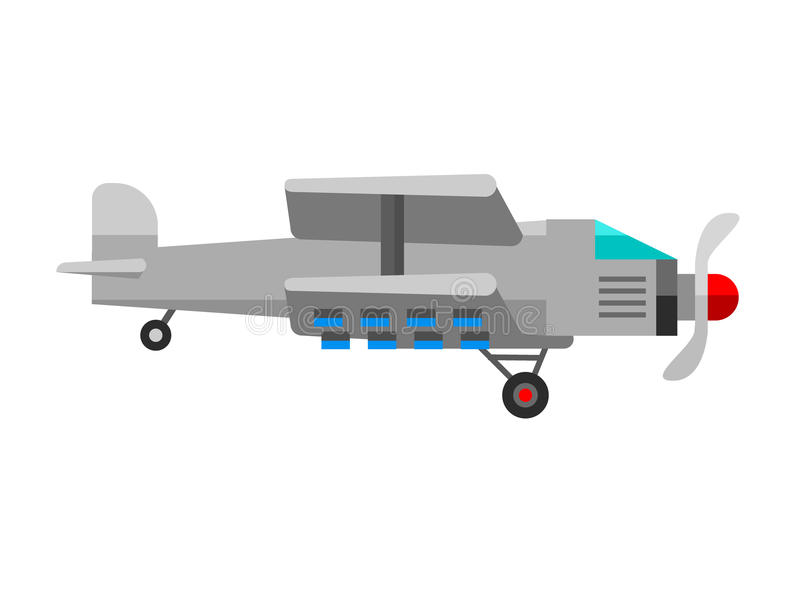 De vector van de het vliegtuigpassagier van de vliegtuigillustratie witte reis en het vliegtuigenvervoer reizen manier naar het o stock illustratie