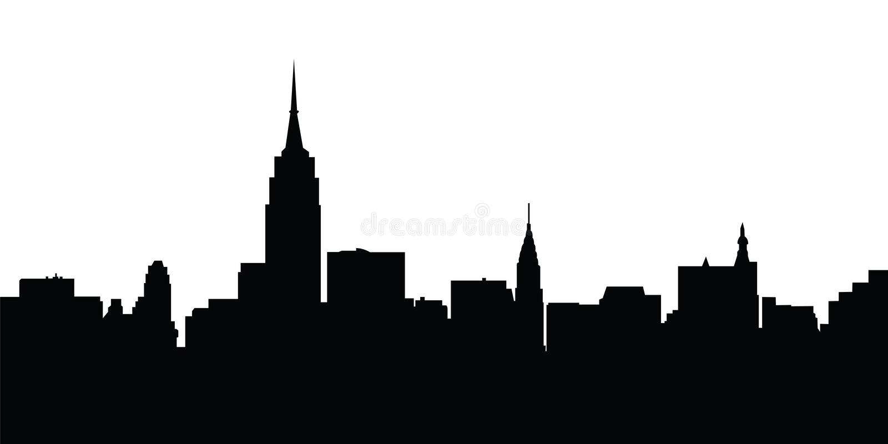 De vector van de horizonNew York van de stad stock illustratie