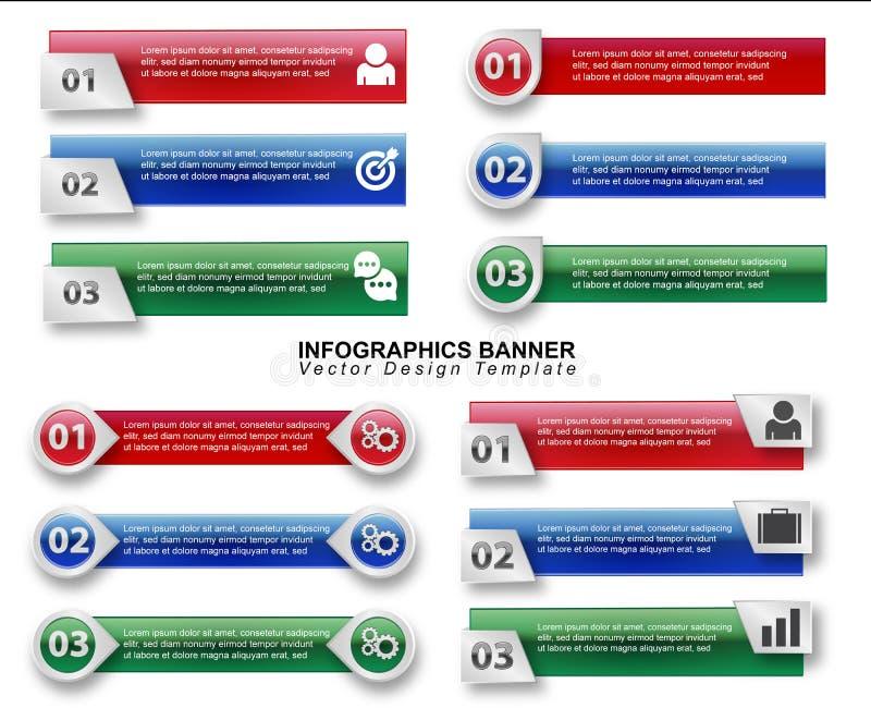 De Vector van de Infographicbanner stock fotografie
