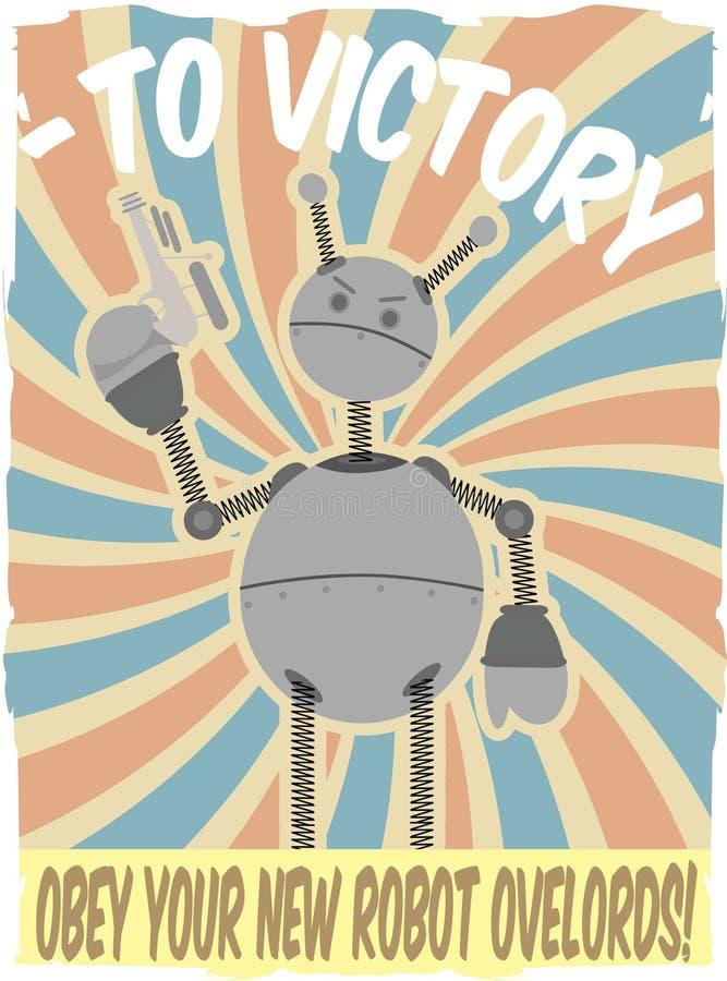 De Vector van de Invasie van de Robot van Faux van de Affiche van de Wereldoorlog II royalty-vrije illustratie