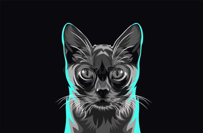 De vector van de kat royalty-vrije illustratie