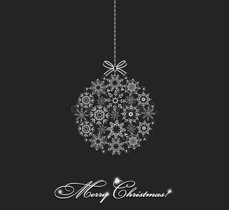 De vector van de Kerstmisbal royalty-vrije illustratie