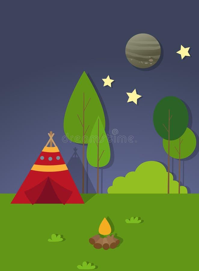 De vector van de landschapsscène royalty-vrije illustratie