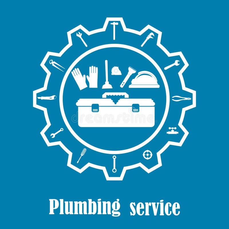 De vector van de loodgieterswerkdienst apparatuur vector illustratie