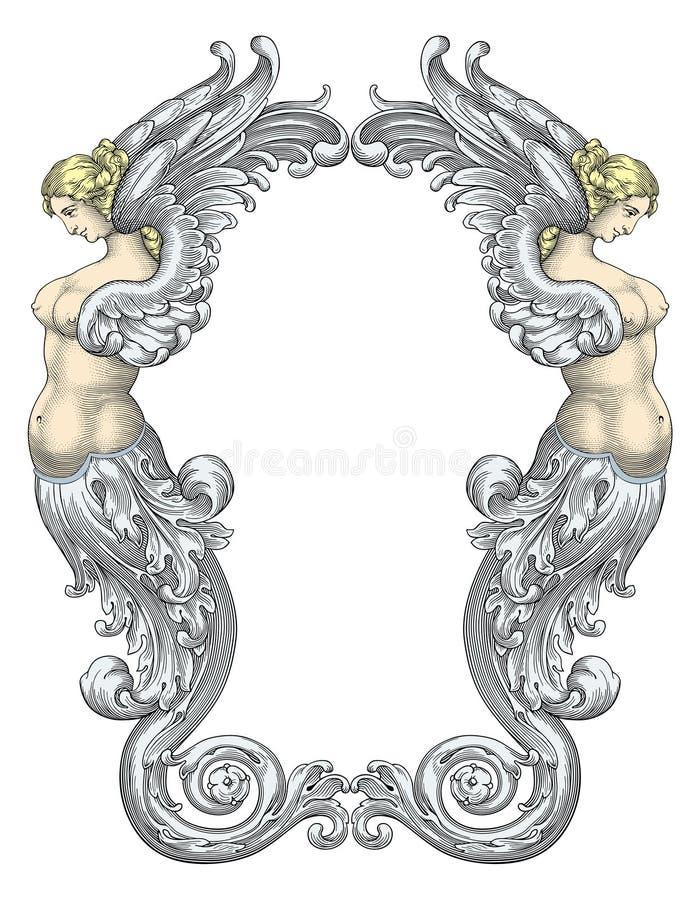 De vector van de Meerminnen van de fee vector illustratie