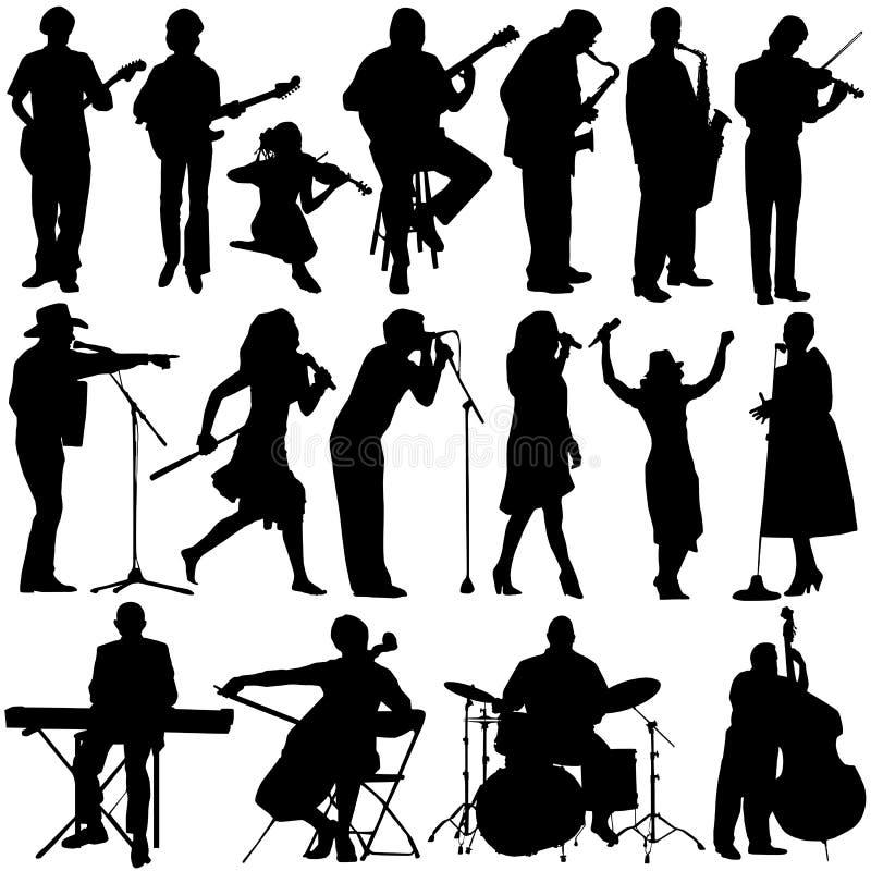 De vector van de musicus stock illustratie