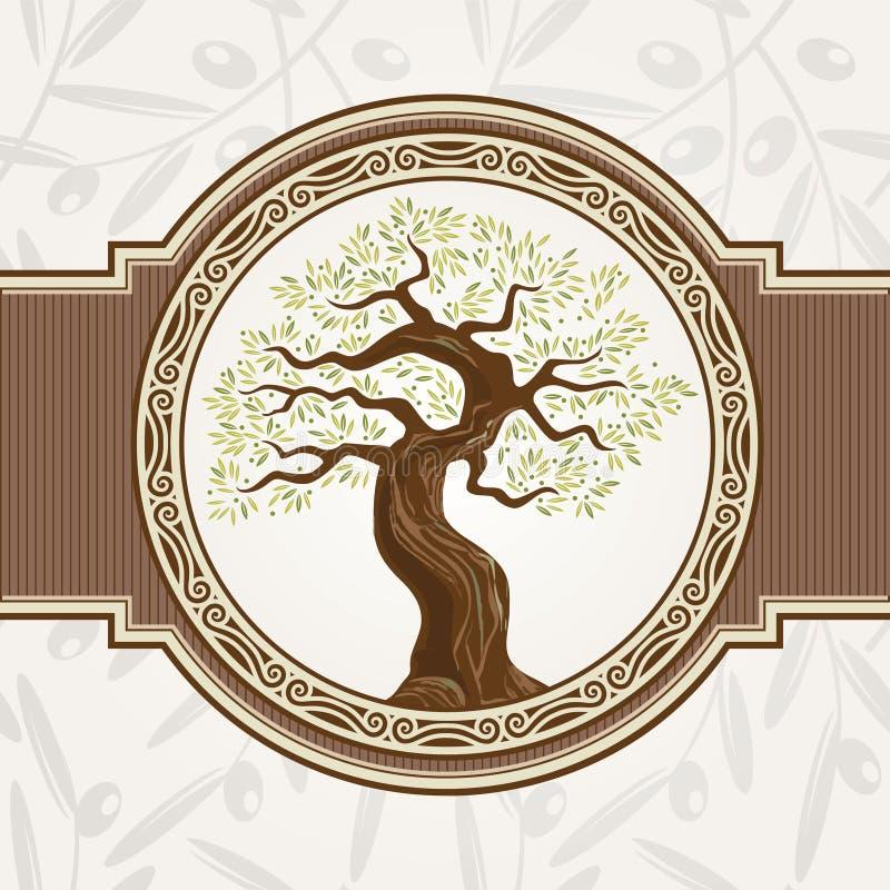De vector van de olijfboom stock illustratie