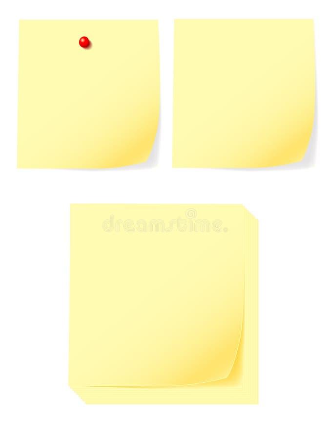 De vector van de post-it stock illustratie
