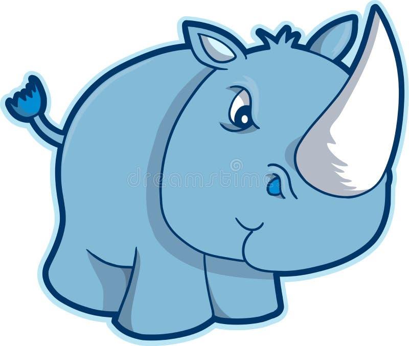 De Vector van de Rinoceros van de safari vector illustratie