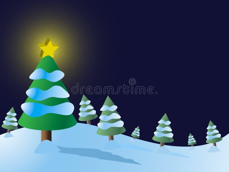 De Vector van de Sneeuw van de kerstboom royalty-vrije illustratie