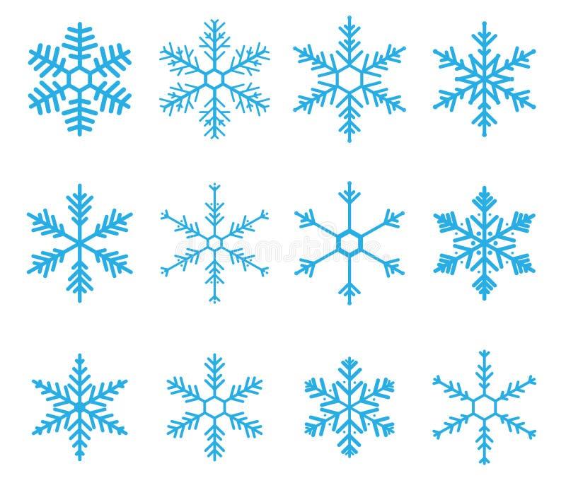 De Vector van de sneeuwvlok vector illustratie
