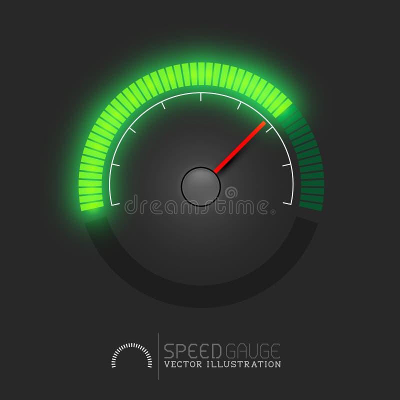De Vector van de snelheidsmeter royalty-vrije illustratie