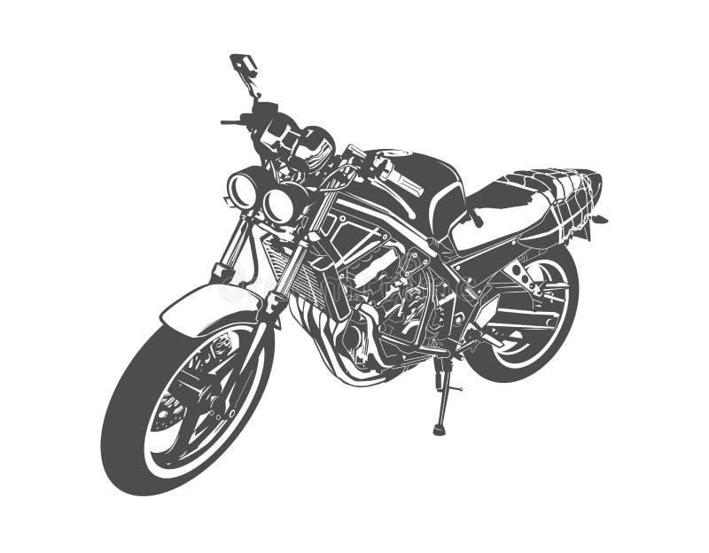 De vector van de sportmotorfiets stock illustratie