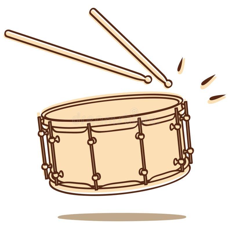 De vector van de trommel vector illustratie