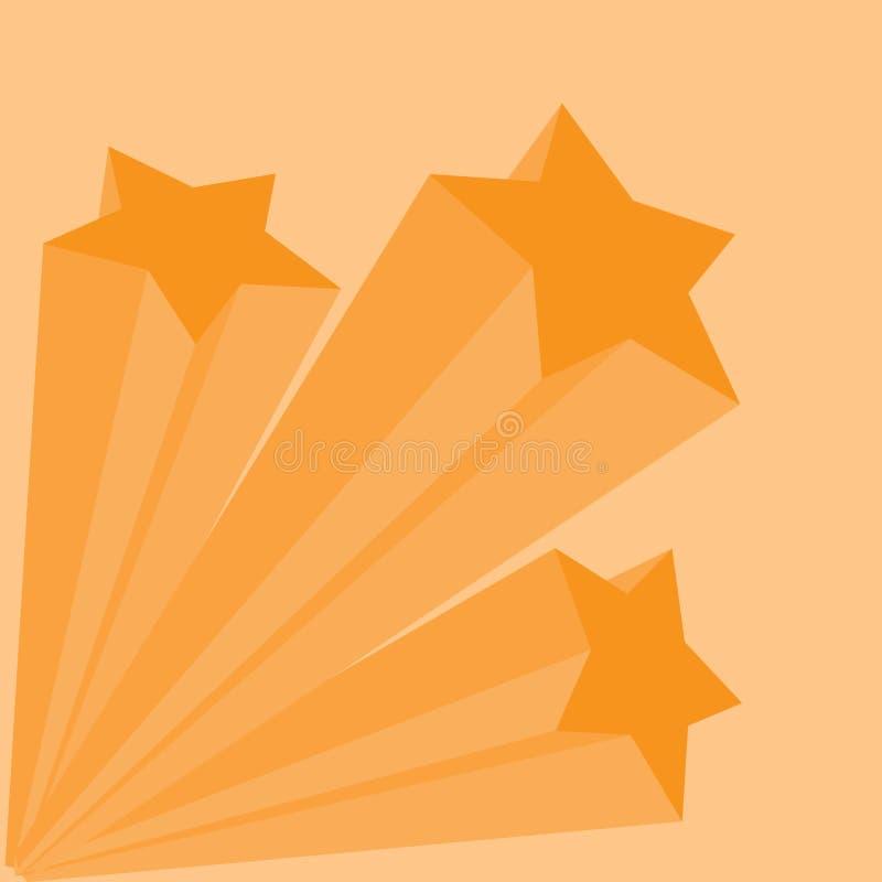 De vector van de vallend ster vector illustratie
