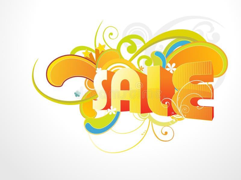 De vector van de verkoop backgroud vector illustratie