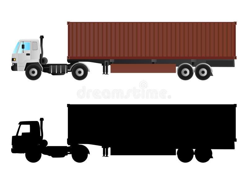 Vrachtwagenvector stock foto's