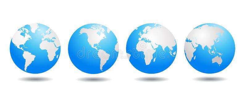De vector van de wereldbol stock illustratie