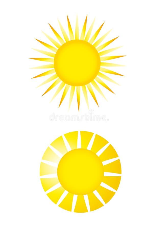 De vector van de zon royalty-vrije illustratie