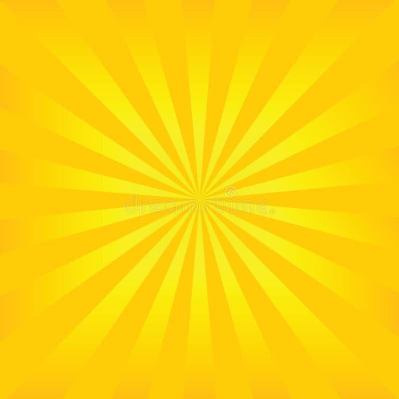 De vector van de zonnestraal vector illustratie