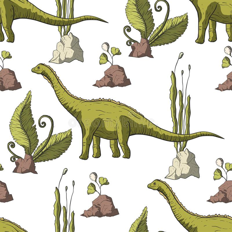 De vector van de Diplodocusdinosaurus vector illustratie