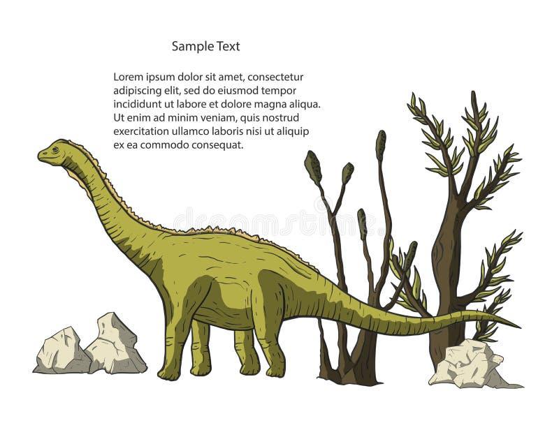 De vector van de Diplodocusdinosaurus stock illustratie