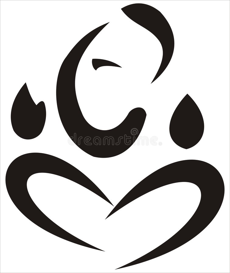 De Vector van Ganesha vector illustratie