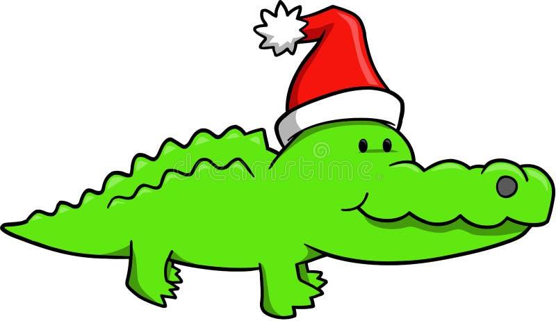 De Vector van Gator van Kerstmis vector illustratie