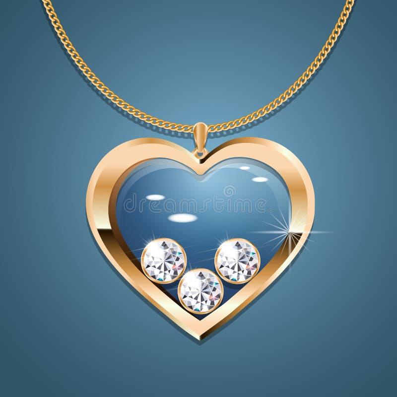 De vector van de hartketting royalty-vrije illustratie