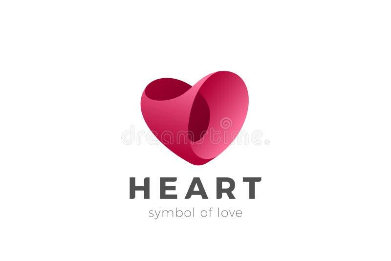 De vector van hartlogo love Medische cardiologie Valent vector illustratie
