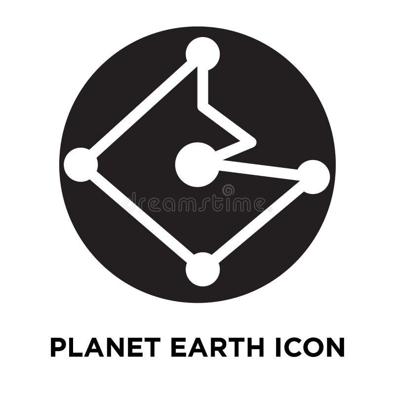 De vector van het aardepictogram op witte achtergrond, conc die embleem wordt geïsoleerd vector illustratie