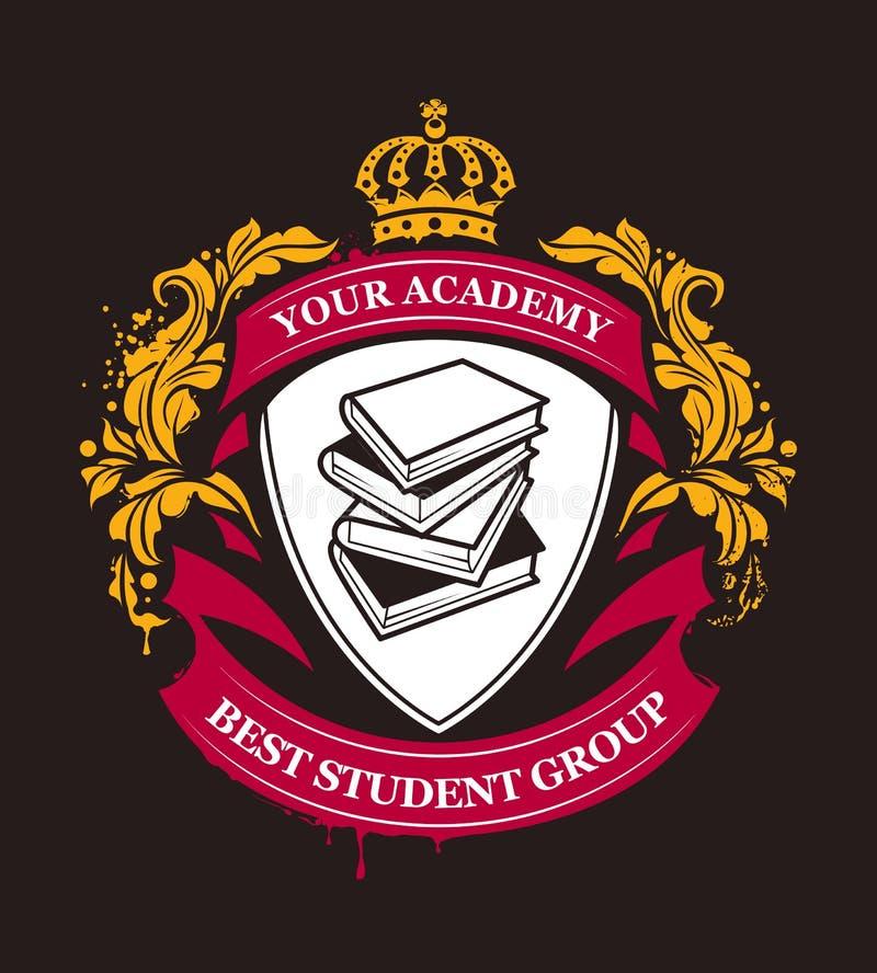 De Vector van het academieembleem royalty-vrije illustratie